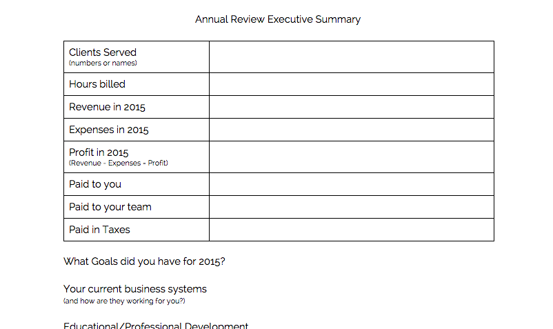 End of year reflection for your business reina co for Year end review template