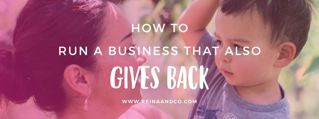 How To Run A Business That Also Gives Back Blog Header