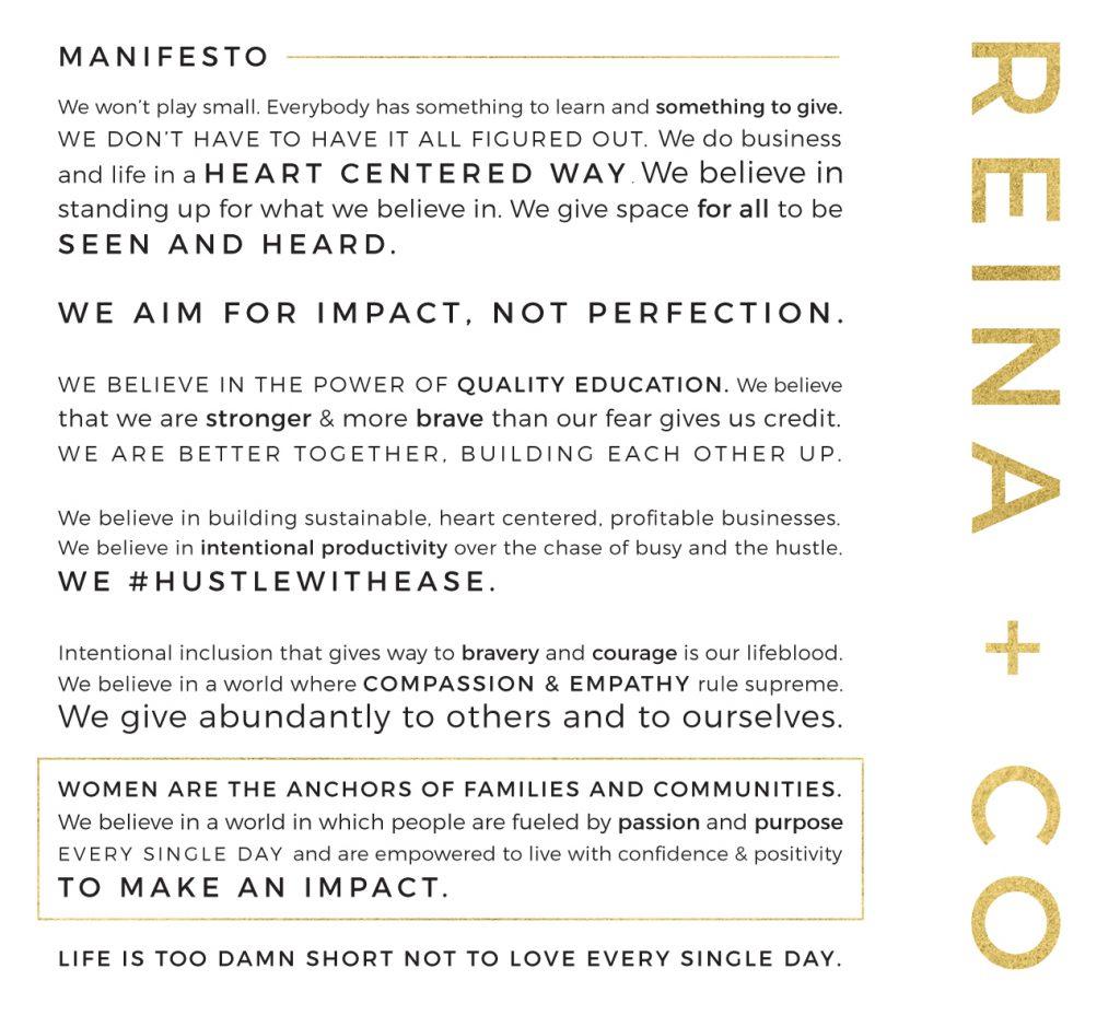 reina and co manifesto
