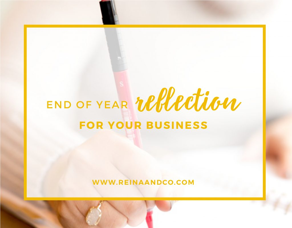 END OF YEAR REFLECTION FOR YOUR BUSINESS
