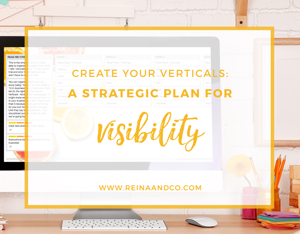 Create Your Verticals: a Strategic Plan for Visibility
