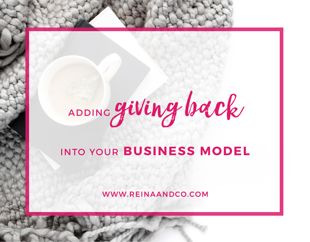 Adding Giving Back into your Business Model